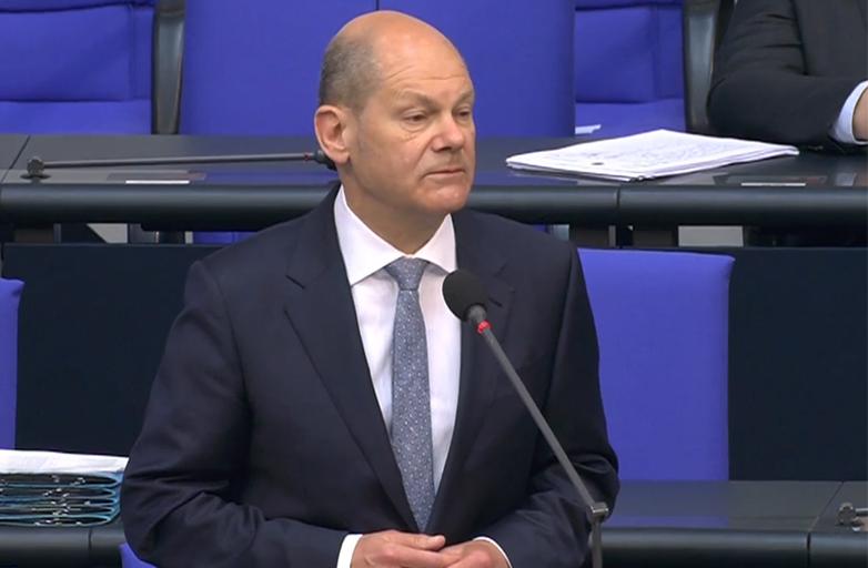 Olaf Scholz bei der Fragestunde des Bundestages am 19.05.2021